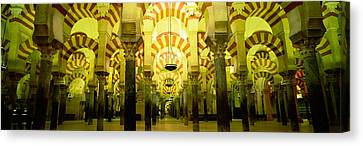 Interiors Of A Cathedral, La Mezquita Canvas Print by Panoramic Images