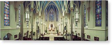 Interiors Of A Cathedral, St. Marys Canvas Print by Panoramic Images