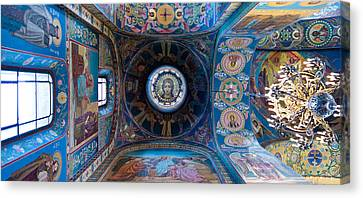 Interiors Of A Church, Church Of The Canvas Print by Panoramic Images