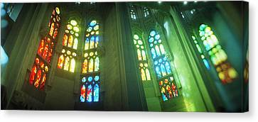 Interiors Of A Church Designed Canvas Print by Panoramic Images