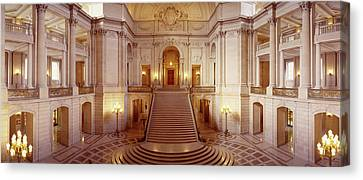 Interiors Of A Government Building Canvas Print by Panoramic Images
