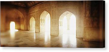 Interiors Of A Hall, Agra Fort, Agra, Uttar Pradesh, India Canvas Print by Panoramic Images