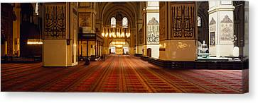 Interiors Of A Mosque, Ulu Camii Canvas Print by Panoramic Images