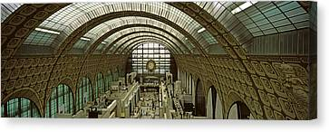 Interiors Of A Museum, Musee Dorsay Canvas Print by Panoramic Images