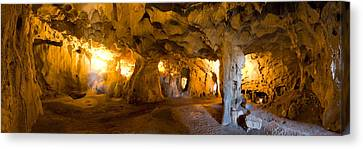 Interiors Of A Prehistoric Cave, Karain Canvas Print by Panoramic Images