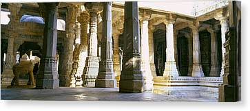 Interiors Of A Temple, Jain Temple Canvas Print by Panoramic Images