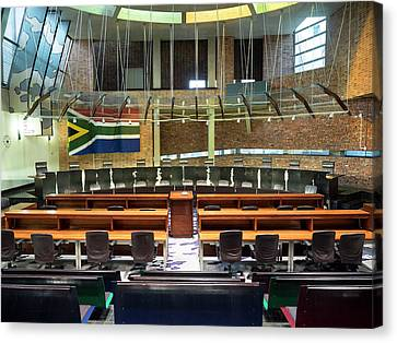 Interiors Of Constitutional Court Canvas Print by Panoramic Images