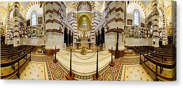 Byzantine Canvas Print - Interiors Of The Basilica, Notre Dame by Panoramic Images