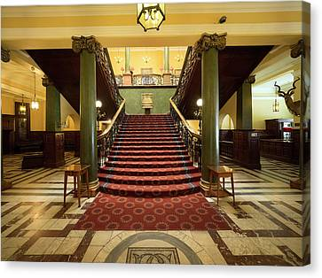 Interiors Of The Rand Club, Loveday Canvas Print by Panoramic Images