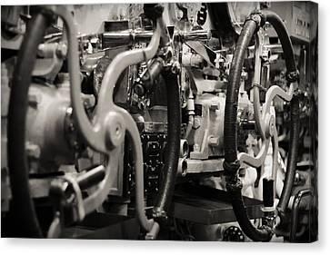 Internal Mechanics Uss Bowfin Canvas Print by Douglas Barnard