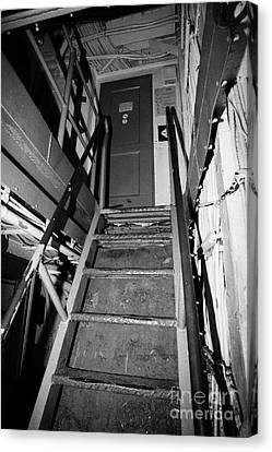 Internal Stairways Of Uss Intrepid At The Intrepid Sea Air Space Museum  Canvas Print by Joe Fox