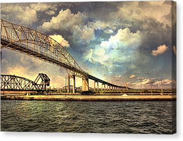 International Bridge Sault Ste Marie Canvas Print