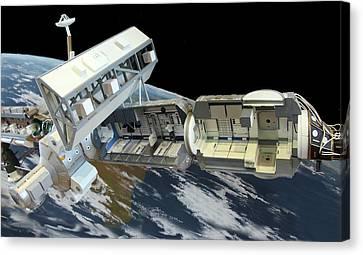 International Space Station Canvas Print by Detlev Van Ravenswaay