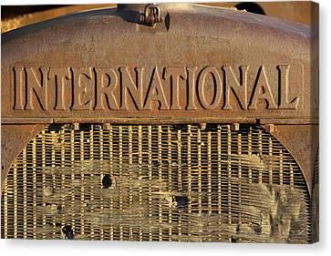 Rust Canvas Print - International Truck Emblem by Mike McGlothlen