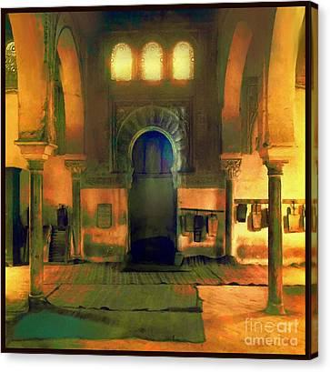 Interoir Mosque Canvas Print by Saiyyidah Seema Z