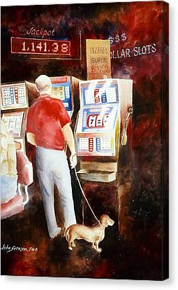 Interrupted Walk Canvas Print by John  Svenson
