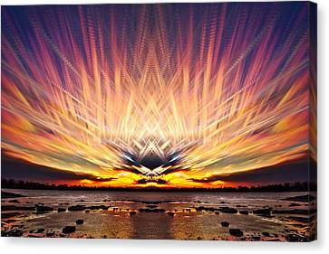 Intersections In The Sky Canvas Print by Matt Molloy