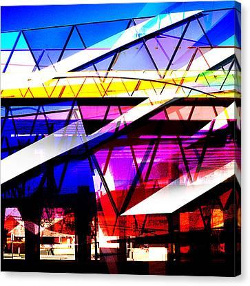 Interstate 10- Cushing St Overpass- Square Remix Canvas Print by Arthur BRADford Klemmer