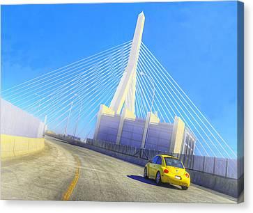 Interstate 93 In Boston Canvas Print