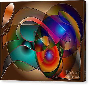 Canvas Print featuring the digital art Intertwined by Iris Gelbart