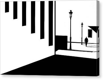 Lamp Post Canvas Print - Interval Area(2) by Sol Marrades
