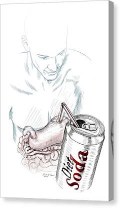 Intestinal Taste Receptors Canvas Print
