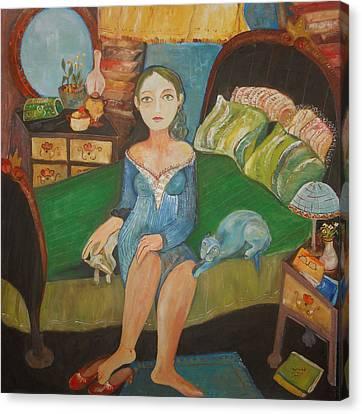 Intimidad Canvas Print by Sandra Dooley