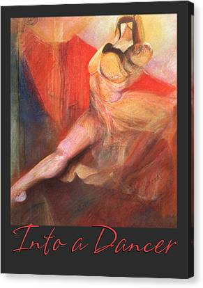 Canvas Print featuring the pastel Into A Dancer - Pastel Art by Brooks Garten Hauschild