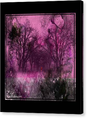 Woods Canvas Print - Into A Dark Pink Forest by EricaMaxine  Price