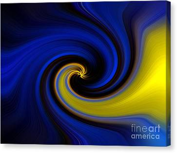 Into Blue Canvas Print