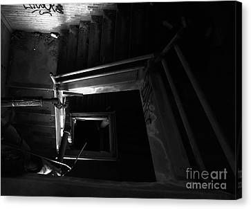 Into The Abyss - Bw Canvas Print by James Aiken