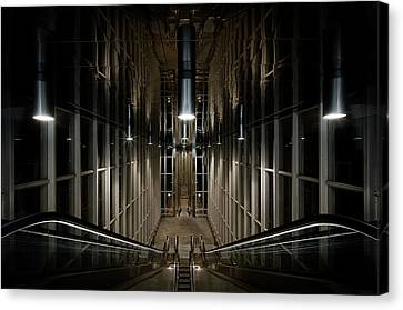 Ceiling Canvas Print - Into The Abyss by Michiel Hageman