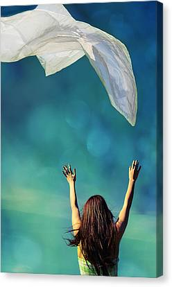 Into The Atmosphere Canvas Print by Laura Fasulo