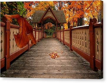 Park Scene Canvas Print - Into The Autumn by Lourry Legarde