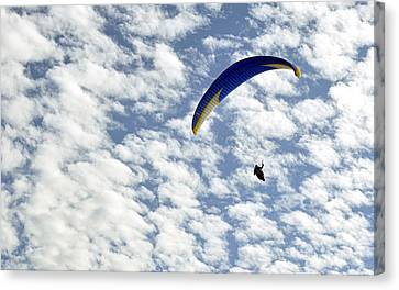 Canvas Print featuring the photograph Into The Blue Yonder by AJ  Schibig