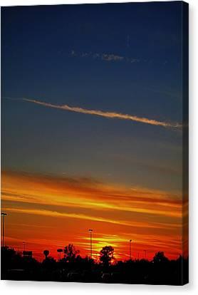 Into The Bluest Sky Canvas Print