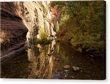 Into The Canyon  Canvas Print by Saija  Lehtonen