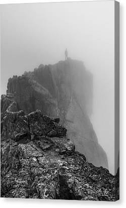 Into The Clouds Canvas Print by Aaron Spong