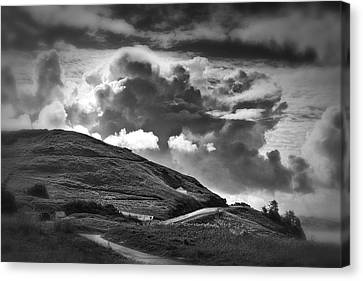 Into The Clouds Canvas Print by Andrew Soundarajan