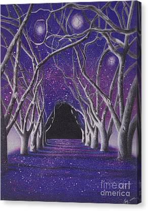 Into The Dark Canvas Print by Elizabeth Dobbs