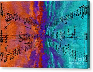 Canvas Print featuring the digital art Into The Deep by Lon Chaffin