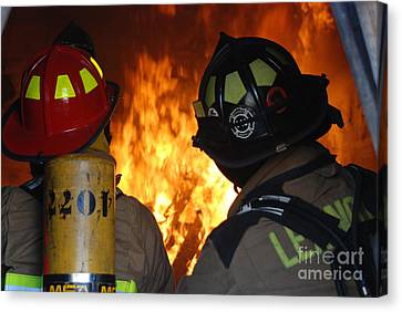 Into The Fire Canvas Print by Steven Townsend