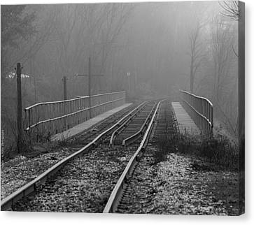 Into The Fog... Canvas Print by Al Fritz