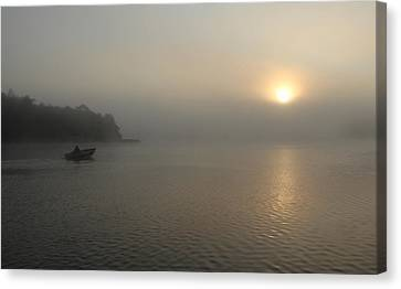 Into The Fog  Canvas Print by Debbie Oppermann