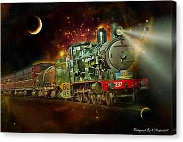 Into The Future 01 Canvas Print by Kevin Chippindall