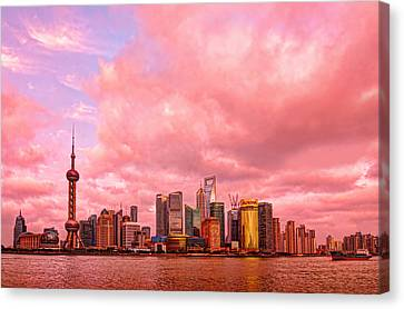 City-scapes Canvas Print - Into The Future by Midori Chan
