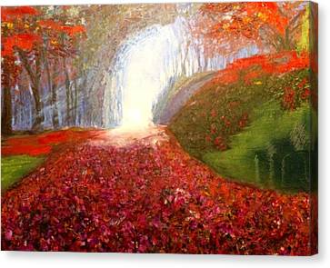 Canvas Print featuring the painting Into The Light by Belinda Low