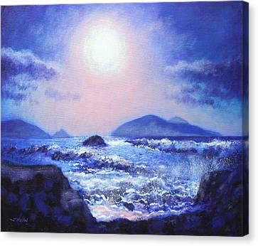 Into The Light The Blasket Islands  Canvas Print by John  Nolan