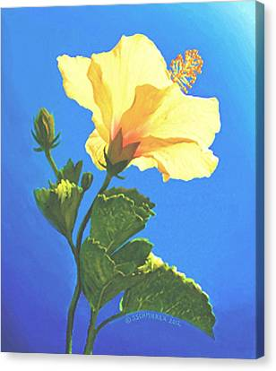 Canvas Print featuring the painting Into The Light by Sophia Schmierer