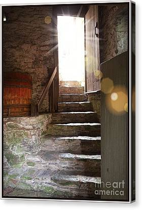 Canvas Print featuring the photograph Into The Light - The Ephrata Cloisters by Joseph J Stevens